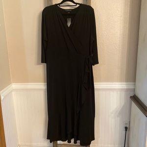 """*NWT* Black Knit """"Wrap"""" Dress by Lane Bryant"""